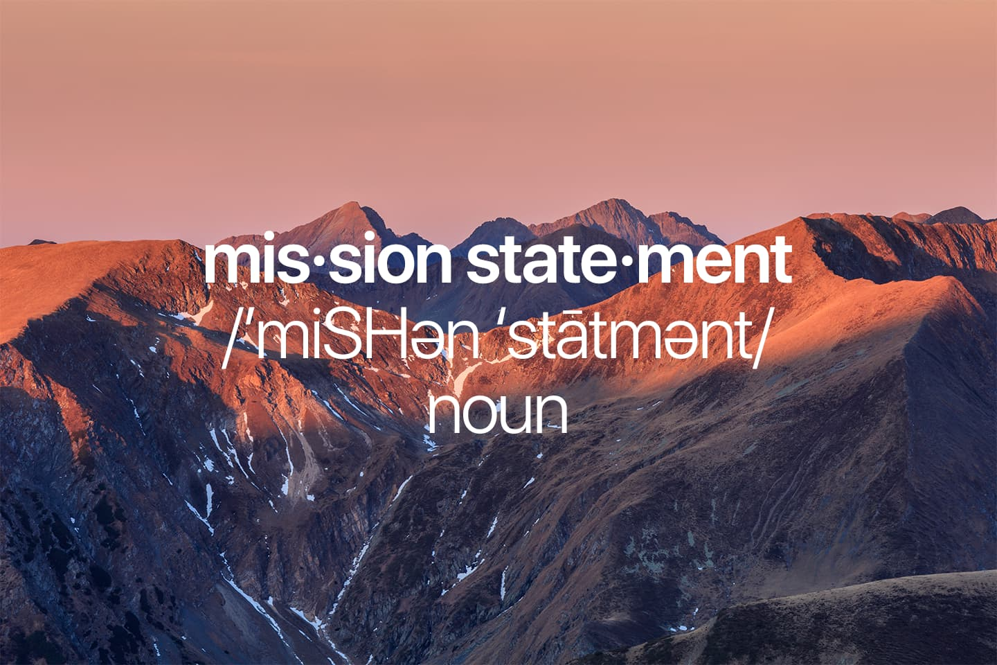 Mission Statements for Individuals. Luxury or Necessity?